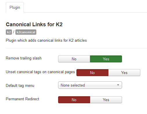 options k2 canonicals